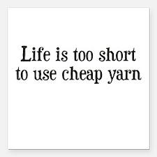 Cheap Yarn Square Car Magnet