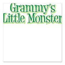Grammy's Little Monster's Square Car Magnet