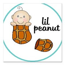 lil peanut Square Car Magnet