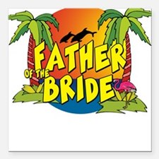 Father of the Bride Square Car Magnet