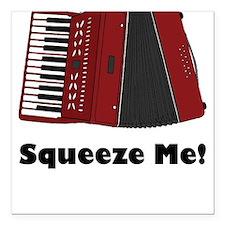 Accordion Squeeze Box Square Car Magnet