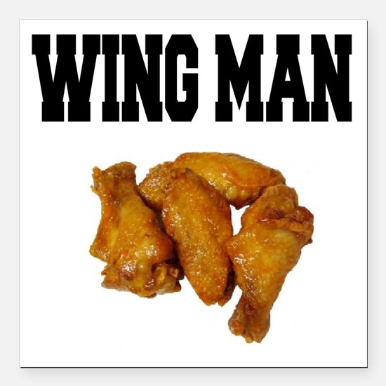 Wing Man Square Car Magnet