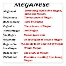 Meganese Square Car Magnet