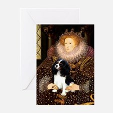 Queen & Tri Cavalier Greeting Cards (Pk of 10)
