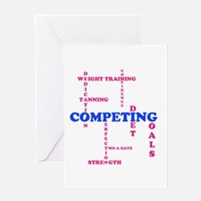 Competing Scabble Design Greeting Card
