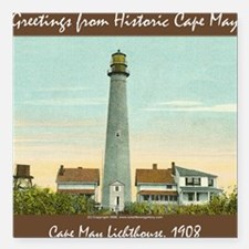 Cape May Lighthouse Square Car Magnet