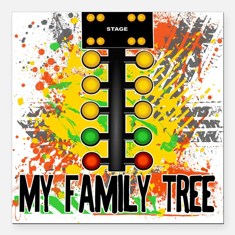 My Family Tree Square Car Magnet