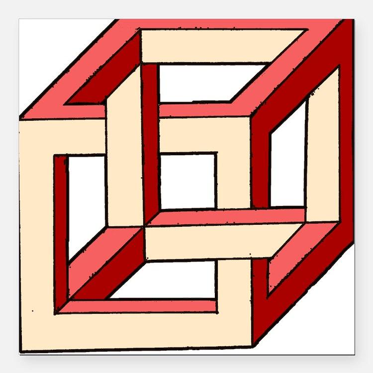 Square Car Magnet