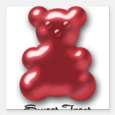 Sweet Treat Red Square Car Magnet