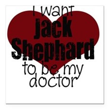Doctor Shephard Square Car Magnet