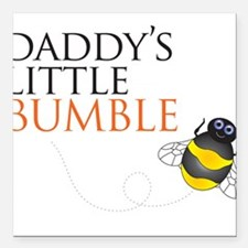 Daddy's Bumble Bee Square Car Magnet