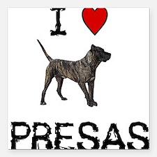 I love Presas Square Car Magnet