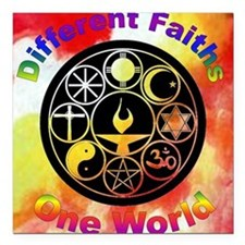 Different_one world Square Car Magnet