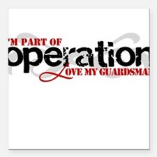 Operation Love My Guardsman Square Car Magnet