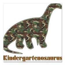 Kid Dinosaur Square Car Magnet