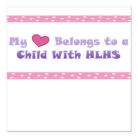 Women's Child w/ HLHS Square Car Magnet