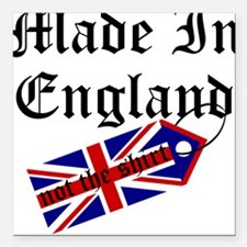 Made In England Square Car Magnet