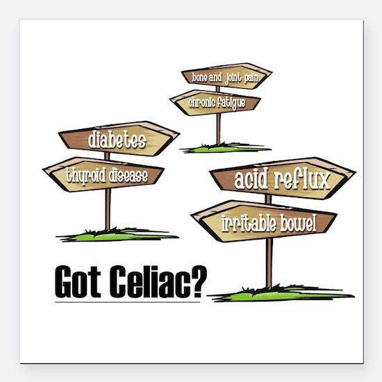 Got Celiac? Square Car Magnet