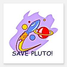 Save Pluto Square Car Magnet