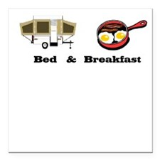 Bed and Breakfast Square Car Magnet