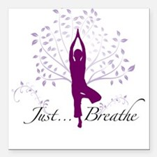 JustBreathe Square Car Magnet