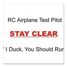 RC Airplane Test Pilot Square Car Magnet