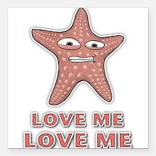 Love Me Square Car Magnet