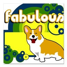 Fabulous Square Car Magnet