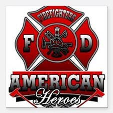 American Heroes Square Car Magnet