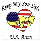 Us army mom Square Car Magnets