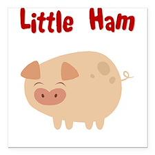 Little Ham Square Car Magnet