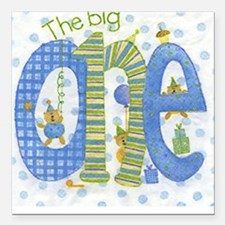 The Big One - 1st Birthday Square Car Magnet