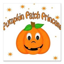 Pumpkin Patch Princess Square Car Magnet