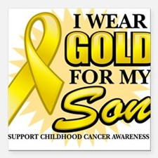 Gold For My Son 2 Square Car Magnet