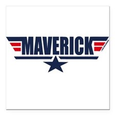 Maverick Square Car Magnet