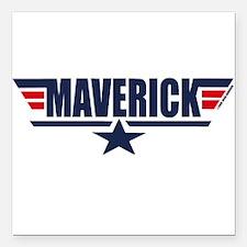 Maverick Square Car Magnet