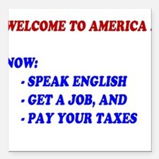 Welcome To America Square Car Magnet