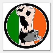 Irish Freedom Square Car Magnet