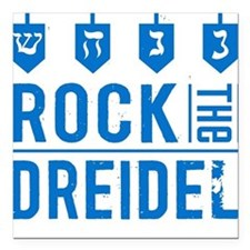 Rock the Dreidel - Jewish Baby Square Car Magnet