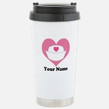 Personalized Nurse Heart Travel Mug