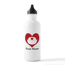 Personalized Nurse Heart Sports Water Bottle