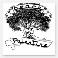 Peace in Palestine Square Car Magnet