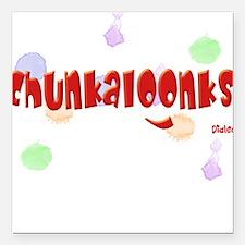 Chunkaloonks Baby Onesie Square Car Magnet