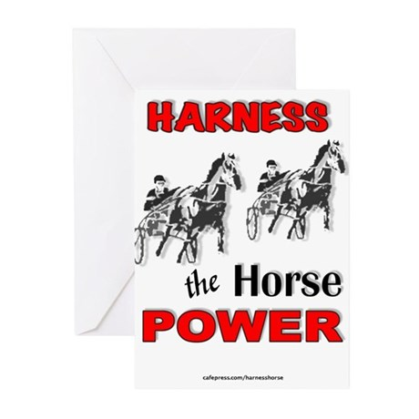Horse Power - Red Greeting Cards (Pk of 10)