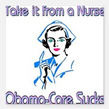 Obama-Care Square Car Magnet