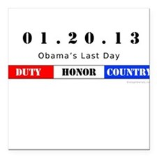 1.20.13 - Obama's Last Day Square Car Magnet