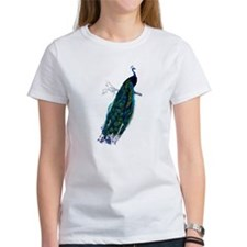 Colorful Peacock Perched Graphic Tee