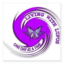 Lupus Awareness Square Car Magnet