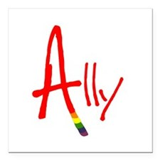 Ally Square Car Magnet