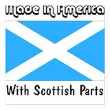 Scottish Square Car Magnets